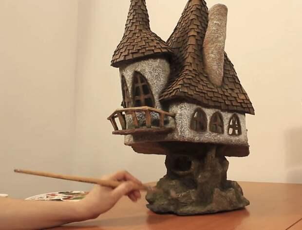 И последнее, но немаловажное - раскрашиваем домик на свое усмотрение! инструкция, светильник, светильник своими руками, своими руками, сделай сам, хенд-мейд, хендмейд, хендмейд-мастер