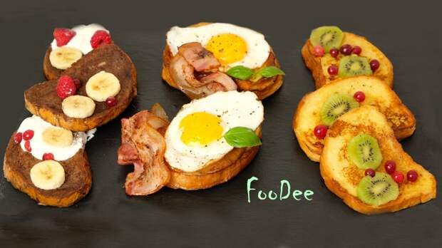 Гренки на завтрак - 3 варианта