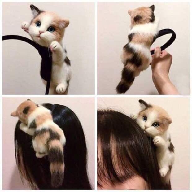 Кавайные валяные ободки для волос