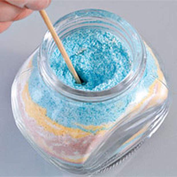 Рисунки из песка и соли. Шаг 6