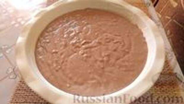 Фото приготовления рецепта: Постный шоколадный пирог с гречневой  мукой - шаг №6