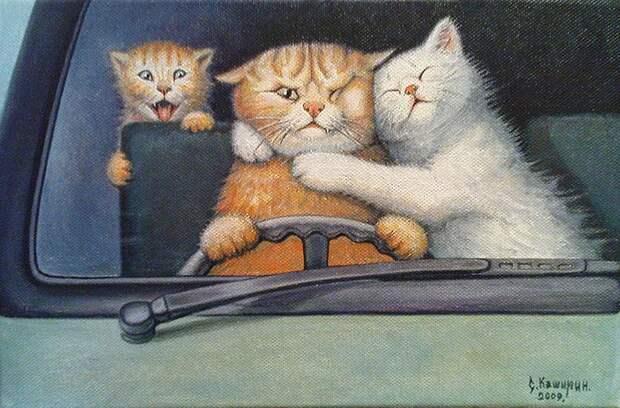 10художников, чьи сердца похищены котиками