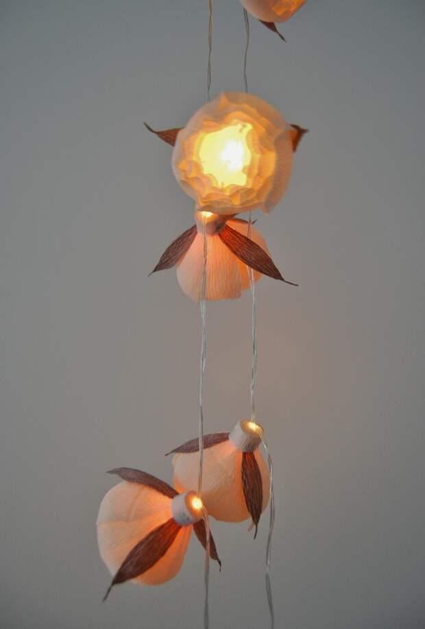 Гирлянды-светильники.