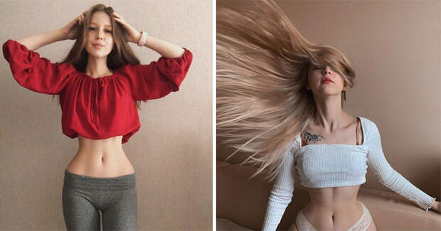Россиянка Лина Sunspot иееневероятная талия, вкоторую сложно поверить