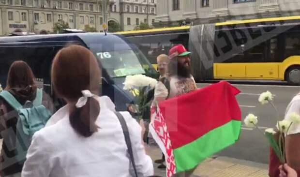 Американец поддержал Лукашенко в Минске