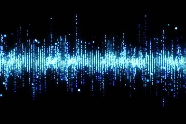 радиоволны на черном фоне