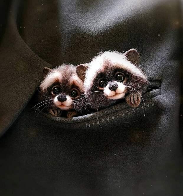 Лапочки лисички идругие очаровательные зверушки мастерицы Анны Романовой