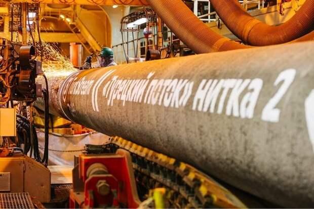 """Ъ"": ""Газпром"" выбрал маршрут поставок газа по ""Турецкому потоку"""