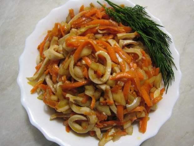 Кальмары по-корейски. Узнал отличный рецепт: просто и вкусно