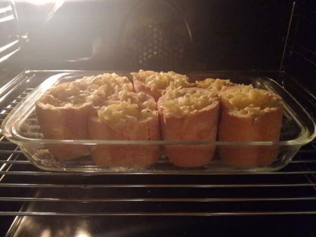 Пирожки из багета — пальчики оближете!