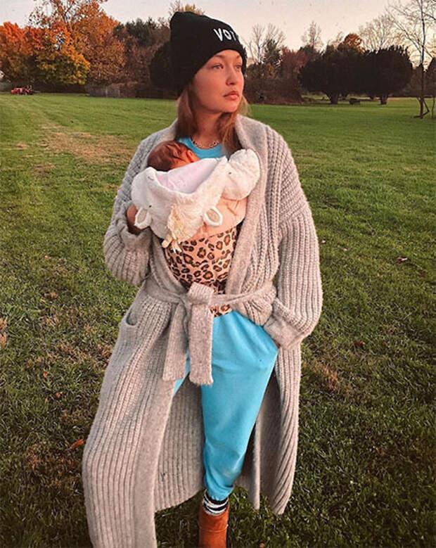 """Джиджи Хадид о домашних родах, поддержке Зейна Малика, своей """"немодельной"""" фигуре и планах на актерскую карьеру"""