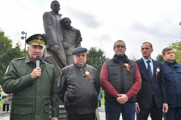 У Ростокинского акведука открыли памятник бойцам 13-й дивизии народного ополчения