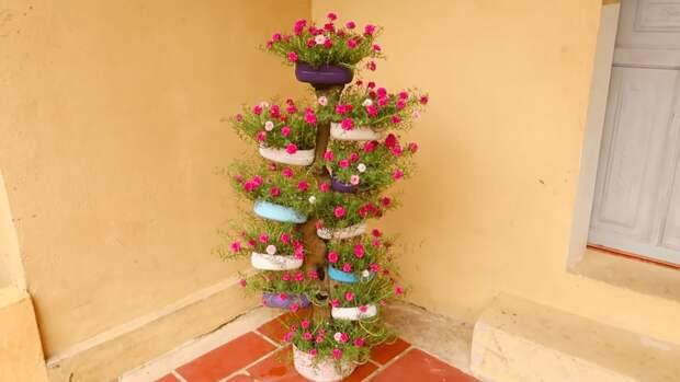 Пышный и сказочный вертикальный сад из того, что под рукой