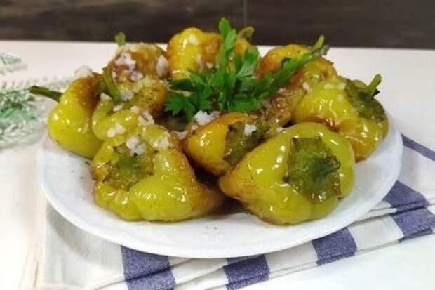 Фото к рецепту: Жареные болгарские перцы