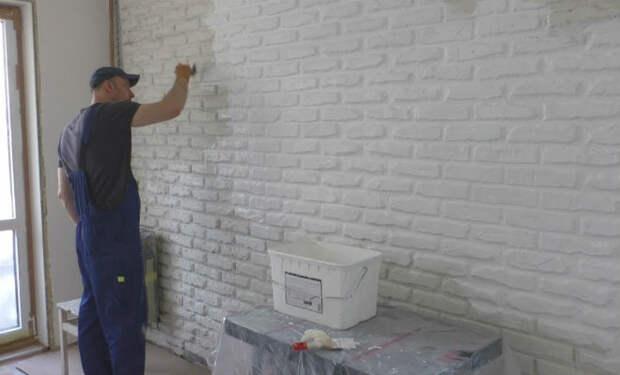 Кирпичные стены за 100 рублей: делаем имитацию