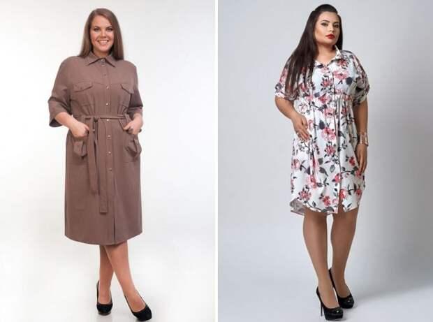 стильные платья рубашки 2018