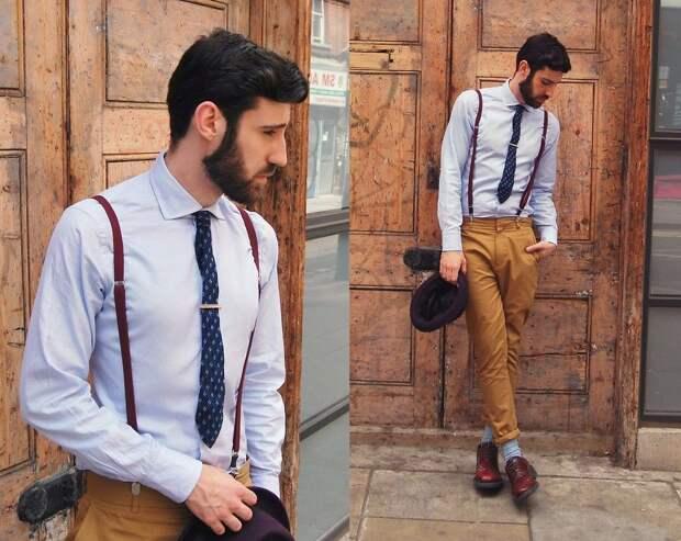 носить подтяжки, мужская мода, стиль мужской, подтяжки кожаные, smart casual, носить кожаные подтяжки