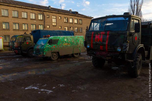 """Блокпост батальона """"Азов"""" в Мариуполе"""