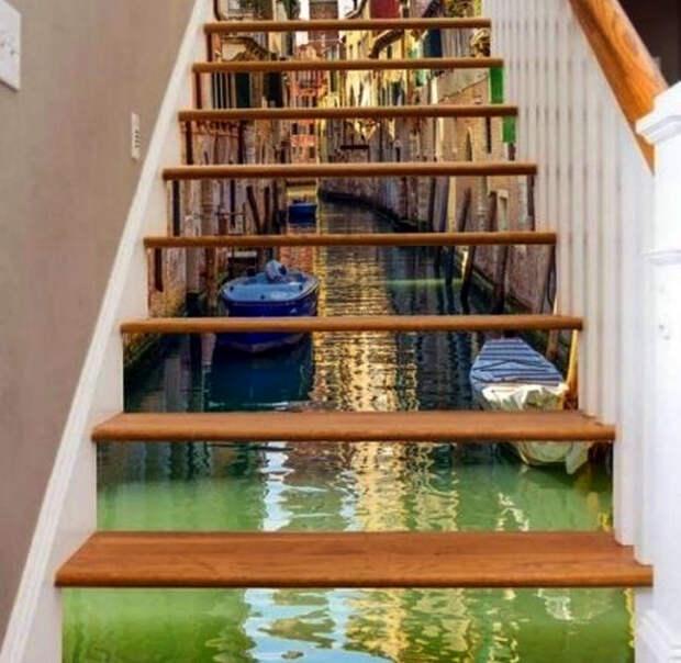 Лестница с оптической иллюзией. | Фото: CaféDéclic.