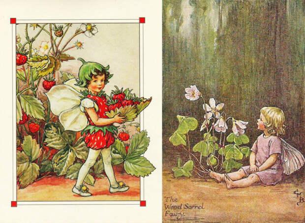 Все детские образы нарисованы Баркер с натуры.
