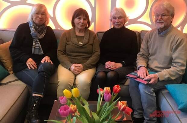 Дети красноармейцев. Слева направо: Рената Хан, Биргрит Михлер, Александра Рюкерт, Винфрид Бехлау.