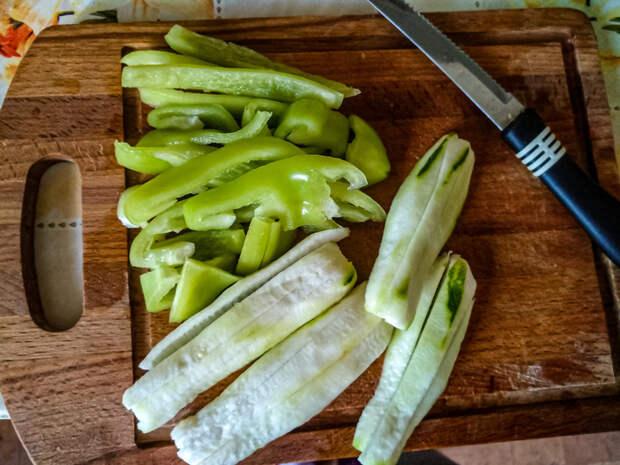 Что делать с овощами с дачи? Рецепт, Овощи, Лапша, Рукожопие с процессом, Длиннопост