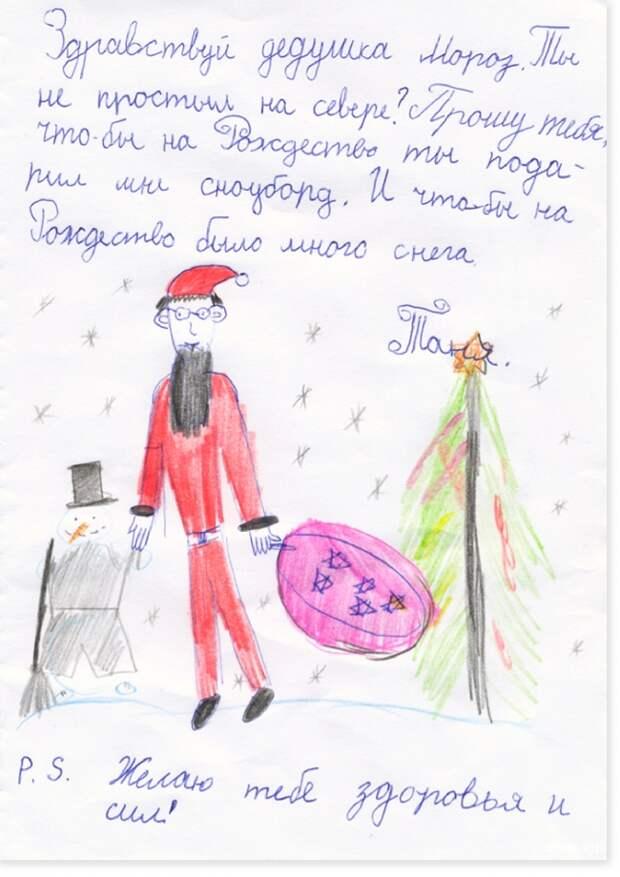 16 самых искренних писем Деду Морозу