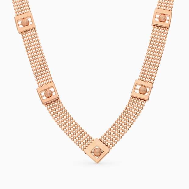 Колье «ВИКО», розовое золото