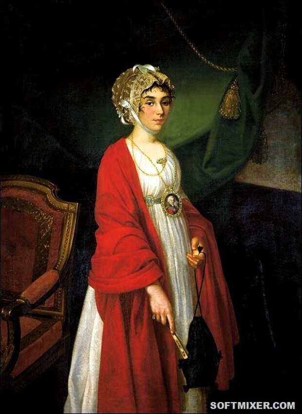 Portrait of Praskovya Ivanovna Zhemchugova-Sheremeteva, Nikolai Argunov, 1803.