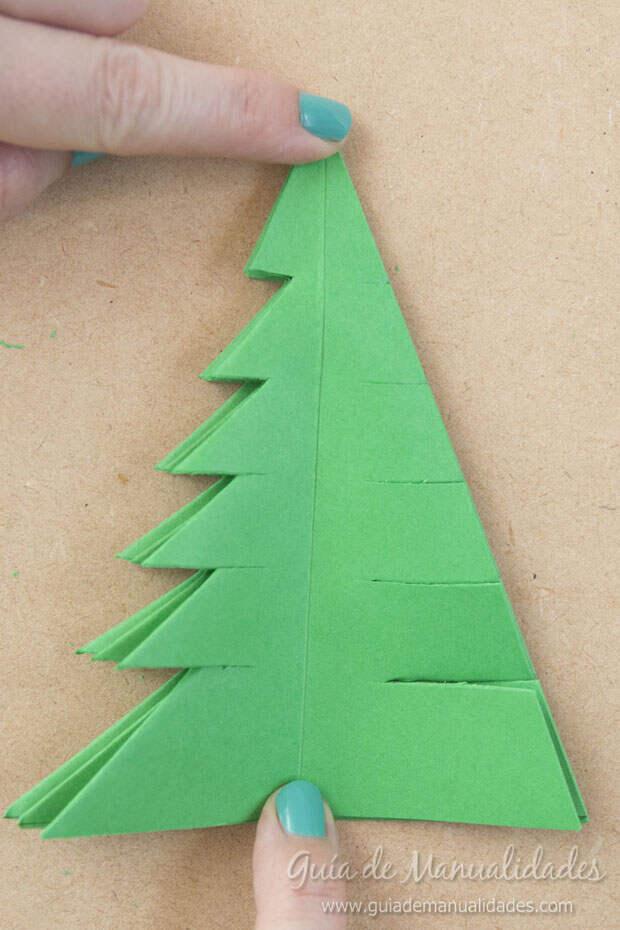 Arbolito navideño papel 10