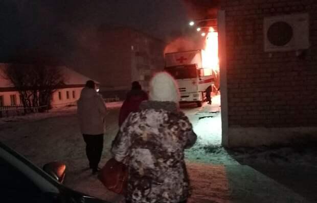 Передвижной медицинский комплекс загорелся в Можге