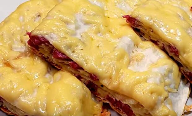 Завтрака хватает на весь день: готовим за минуту в лаваше