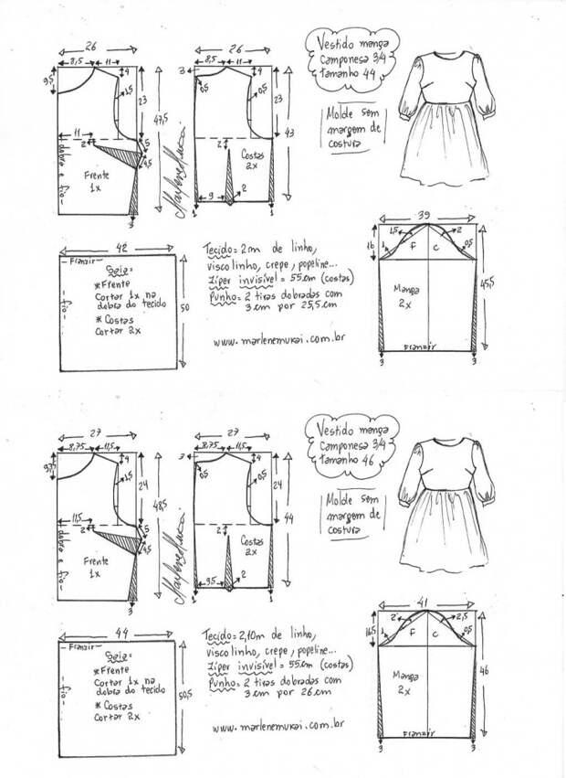 Выкройки платья для юных и звонких