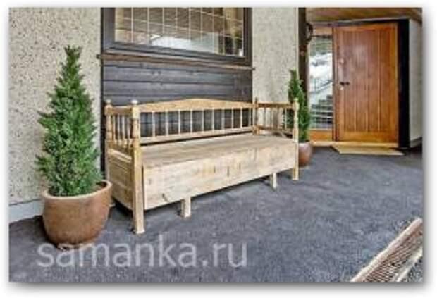 Деревянные скамейки для дачи фото 3 Увеличить