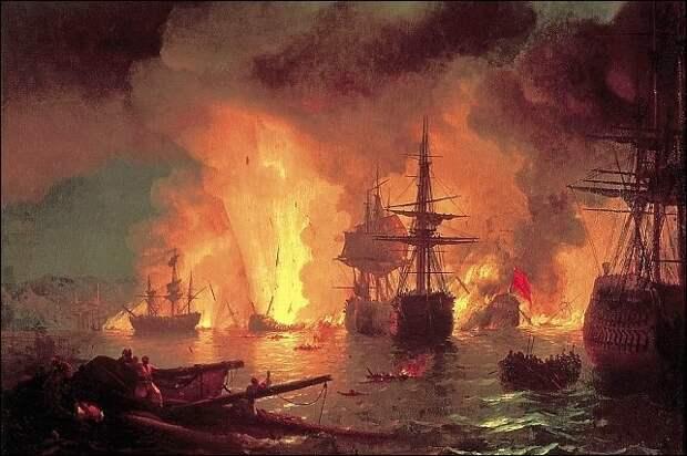 Лейтенант, сжёгший турецкий флот