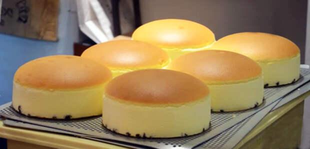 Необычный японский торт без муки