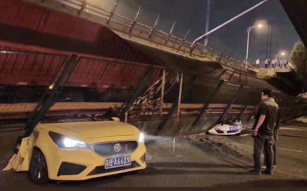 Шокирующее видео: рухнула эстакада в Китае