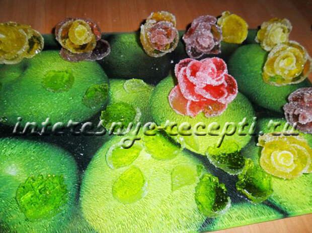 Как сделать цветы из мармелада
