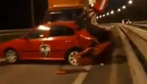 Три машины столкнулись на Объездной дороге в Подольске