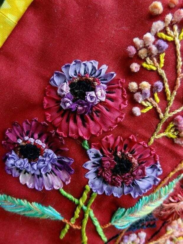 Вышивка цветов: изумительные идеи 6