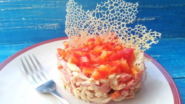 Салат «Коралловый риф» Салат, Кулинария, Рецепт, Видео, Длиннопост