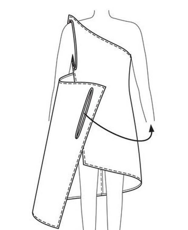 Самый легкий пошив летнего сарафана. Выкройка (4) (355x434, 34Kb)