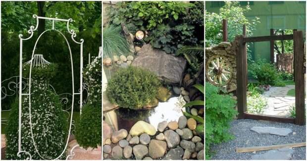 Зеркало в саду: идеи декора, с потрясающим эффектом