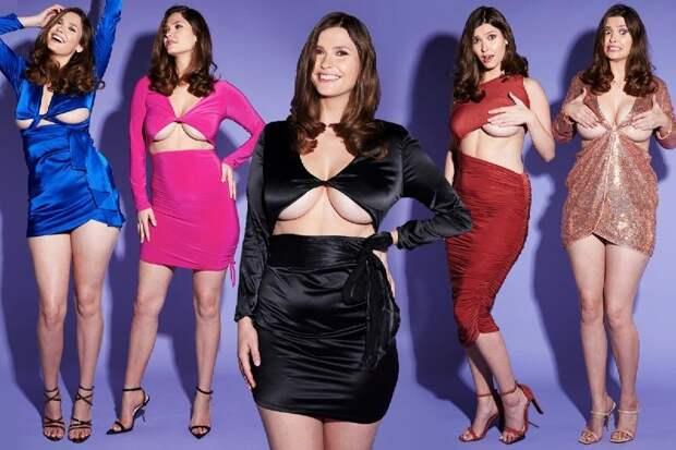Душа нараспашку: как обычные платья выглядят на пышногрудой модели