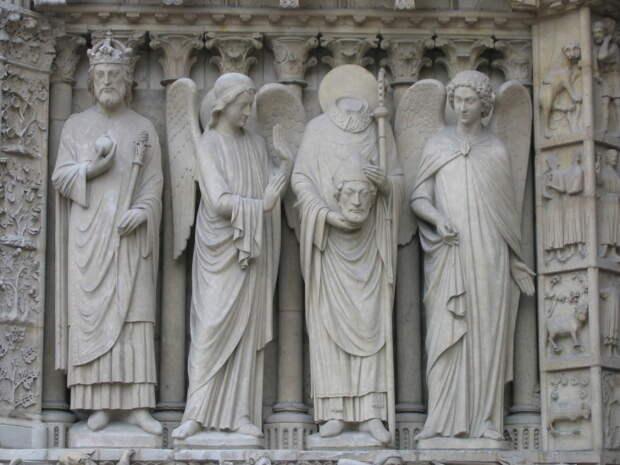 Святой главоносец без головы. Кефалофор.