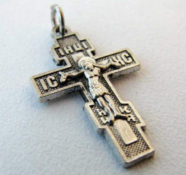 Православный нательный серебряный крестик