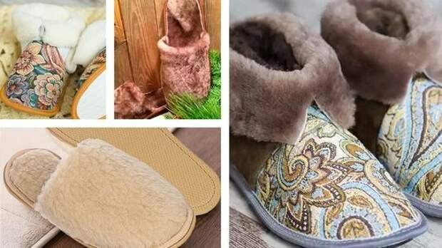 Шьем теплую домашнюю обувь - подборка выкроек и идей