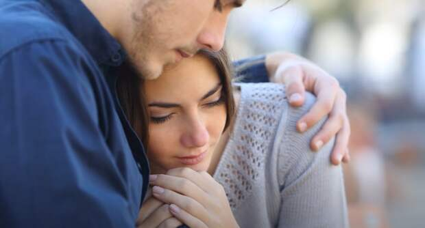 После похорон Оля нашла поддержку в своем муже