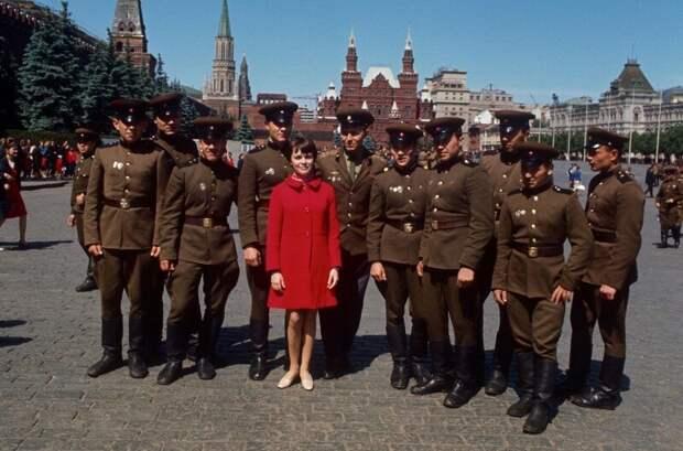 Мирей Матье в Москве. 1967 ретро фото, фотт, это интересно