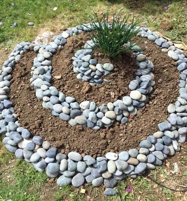 Клумбы для цветов из камней – солидно и долговечно
